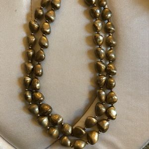 Ann Taylor Distressed Gold Layered Necklace